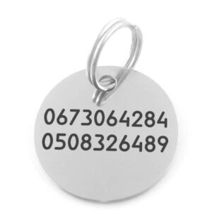 Жетон адресник коло сталеве 25 мм приклад зі стандартним шрифтом